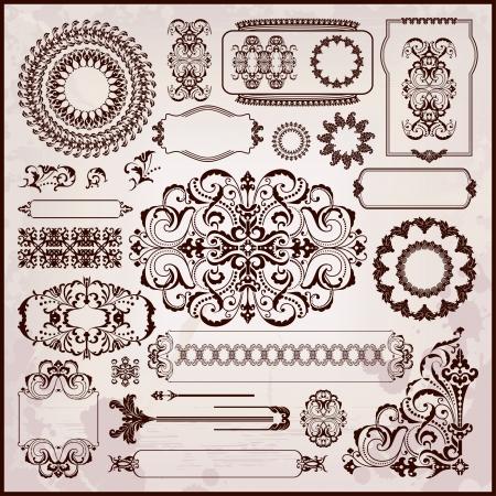 arabesque: texturas florales en estilo rococ�