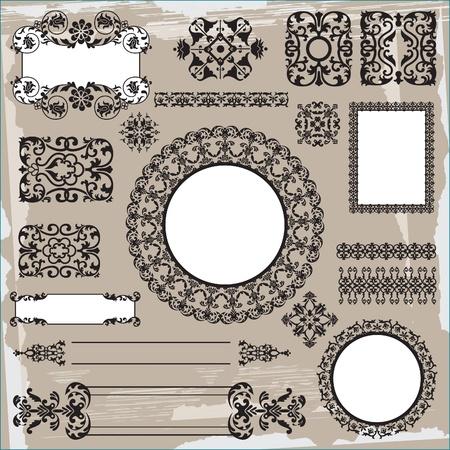 islamic pattern: ornamental pattern on brown background