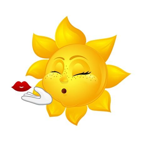 zoenen: mooie zon maken lucht kus