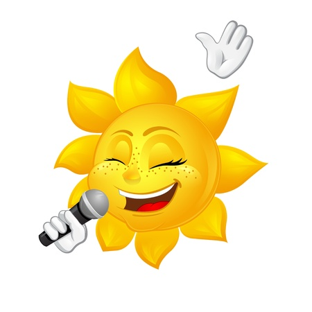 sun with freckles is singing Vector