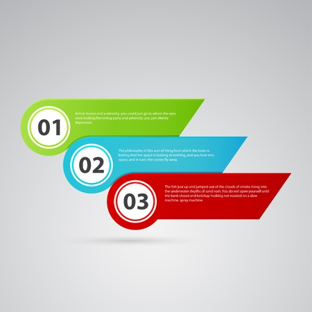 arrow color template with numbers Vector