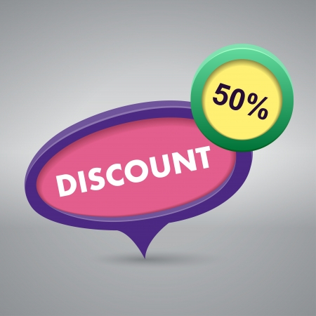 cheaper: discount label on gray background