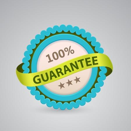 single label of 100% guarantee Vector