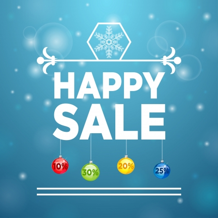 yelow: Happy Sale and Christmas Ball and Sale percent