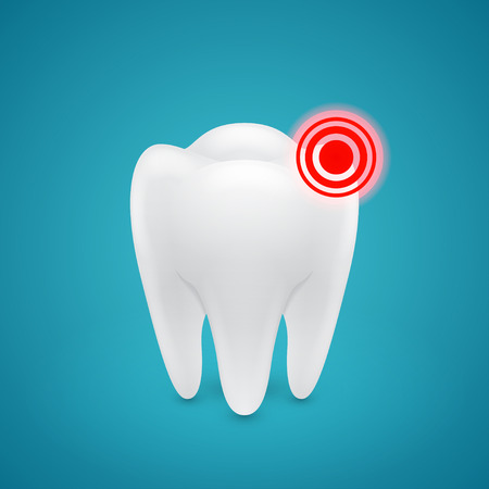 inflamed: inflamed zone on the human teeth