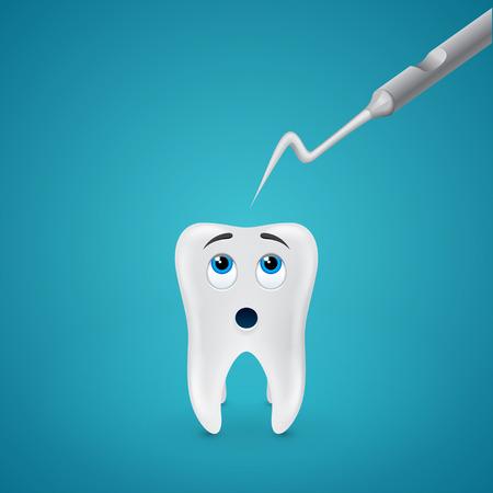 probe: human tooth afraid metal dental probe