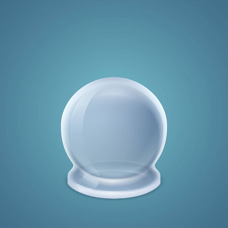 inverted: Inverted round-bottom flask isolated on blue background