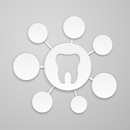 indentation: Circles of different sizes around the tooth Illustration