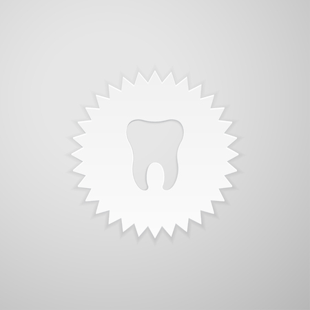 indentation: Tooth shape on the background of the circle with sharp teeth