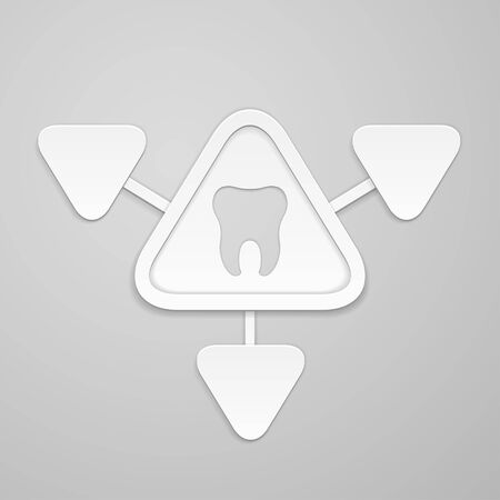 indentation: Tooth in and around triangle  Illustration