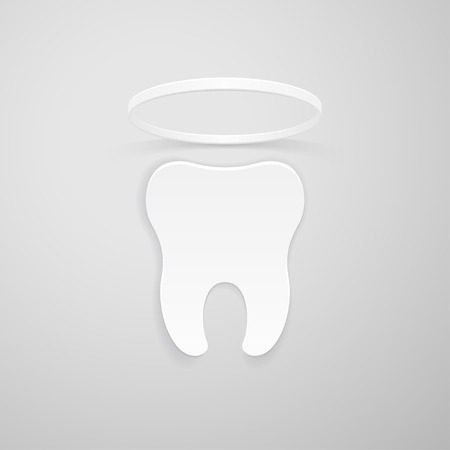 dental symbol: Tooth with a nimbus