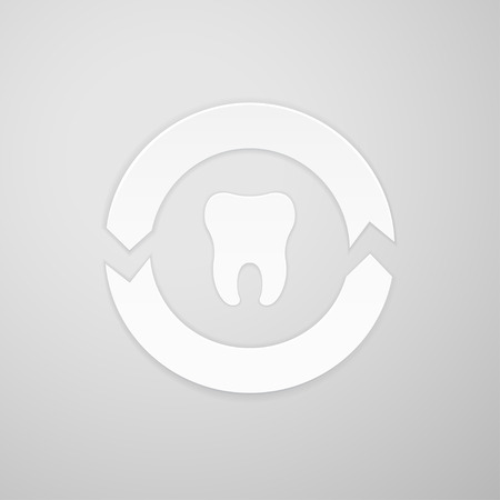 indentation: Two arrows in a circle around the tooth