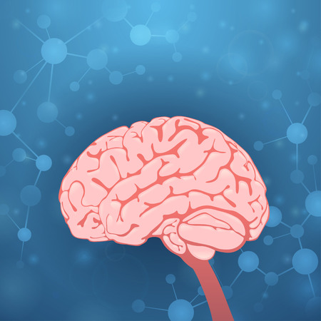 pulses: Brain on blue background