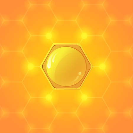 sweetness: Orange Hive Illustration
