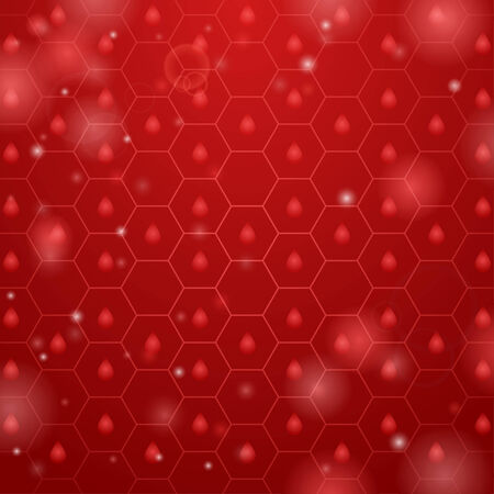 Light red background with hexagon and drop Vector