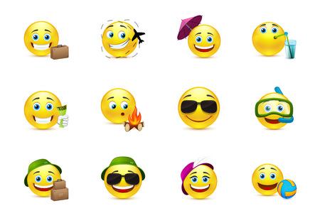 cara sonriente: Los viajeros ollection Smiley
