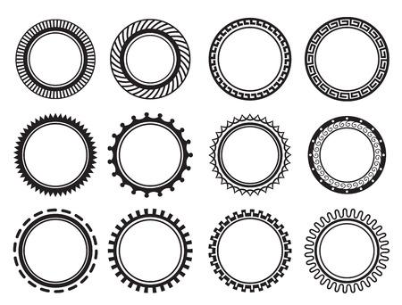 Set nice old-fashioned circle Illustration