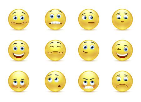 cara sonriente: Conjunto de vectores hermosas sonrisas