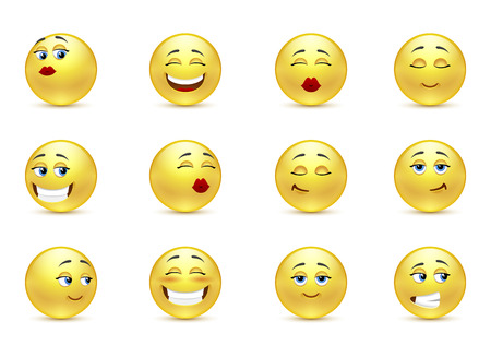 rightness: Set beautiful funny smiles