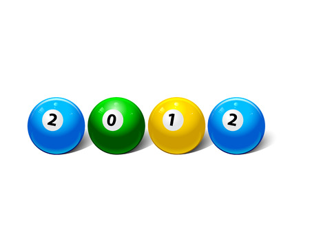 two thousand: two thousand twelve year in the form of billiard balls