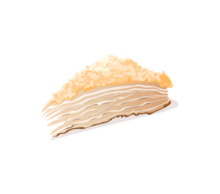 a piece of cake on a white background Vector