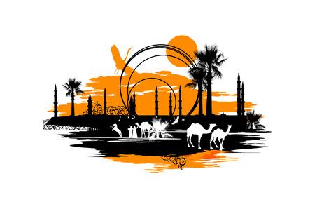 animales del desierto: Camellos