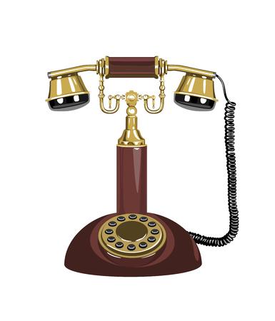 phone cord: Retro phone