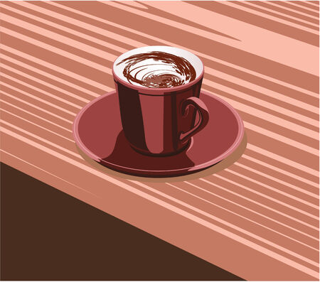 scarlet: scarlet cup of coffee is on the scarlet saucer