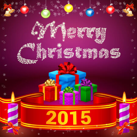 inkle: Red ribbon, Snow Merry Christmas, colorful gifts, candles, toys and bells
