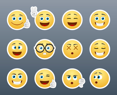 emoticons: The most beautiful and fun in a small set of stickers