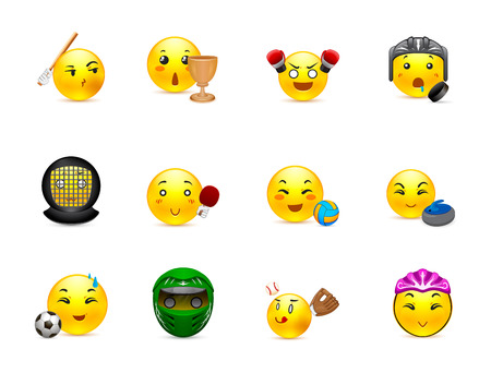 emoticon: The most beautiful yellow anime stickers play different sports