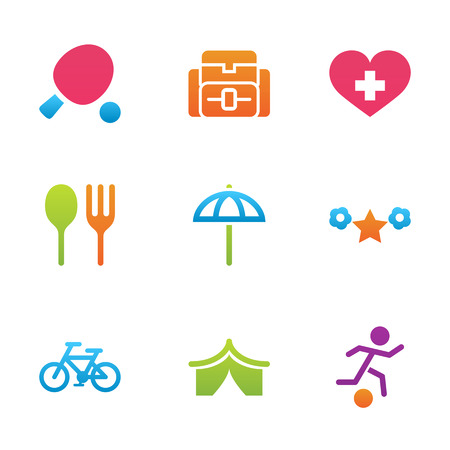 rest: icon set activity and rest