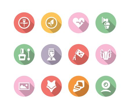 objetos de la casa: conjunto de iconos con la sombra diferentes objetos de la casa