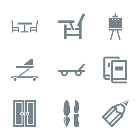 stuff: babys things and home stuff icon set
