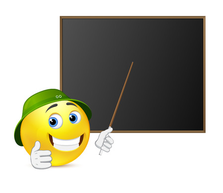 tightness: Funny teacher around blackboard