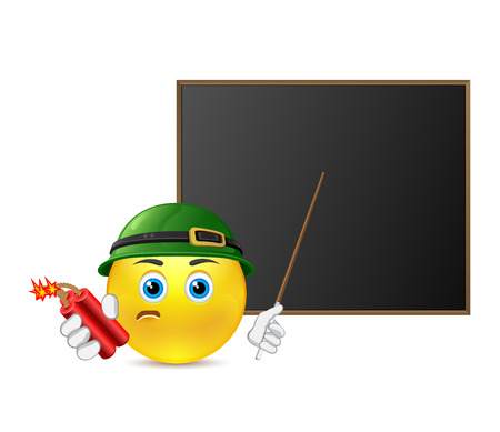tightness: Funny smile around blackboard