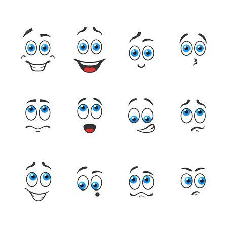 青い目を持つさまざまな面白い感情