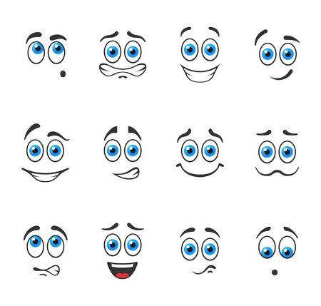 Funny smiles with blue eyes