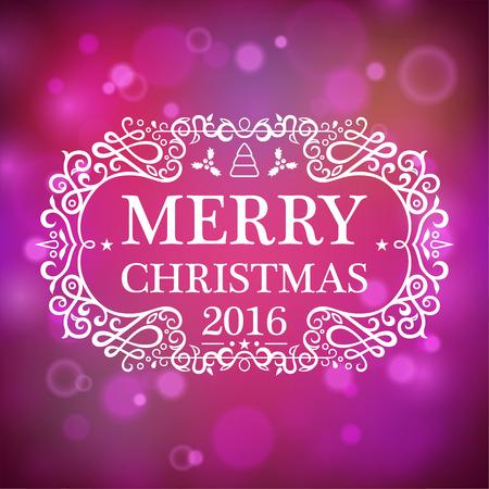 hristmas: Postcard Merry Сhristmas 2016 Illustration
