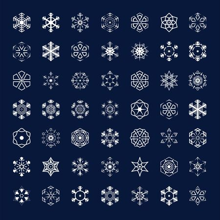 Vector icons snowflakes Illustration