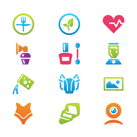 household objects: icon set different household objects