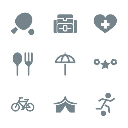 cordial: gray icon set activity and rest