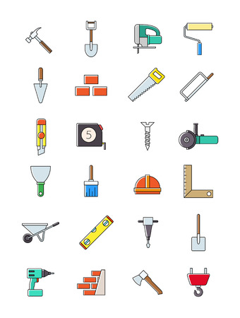 costruction: Set of 24 costruction icons