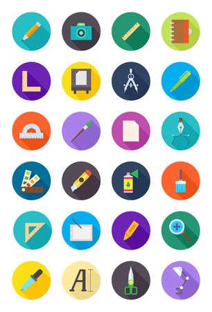 color design: Set of 24 color round design icons