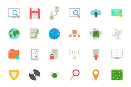 it technology: Set of 24 IT technology vector icons Illustration