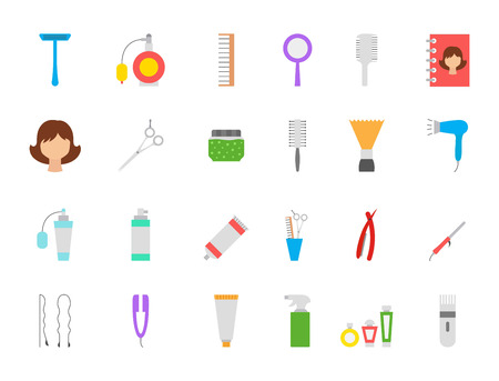 barbershop: Set of 24 Barbershop vector icons