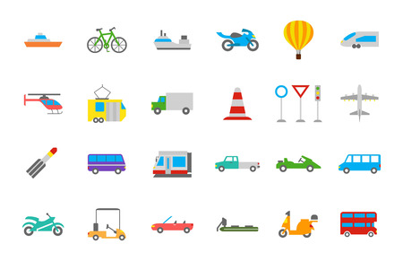 transport icons: Set of 24 Transport vector  icons