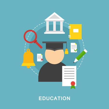 education concept: Education vector picture concept Illustration