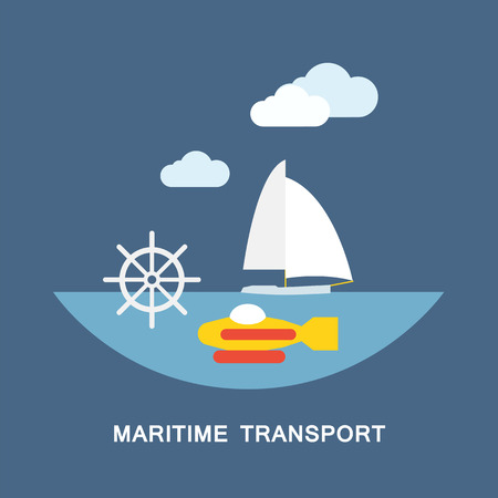 water carrier: Maritime transport vector image