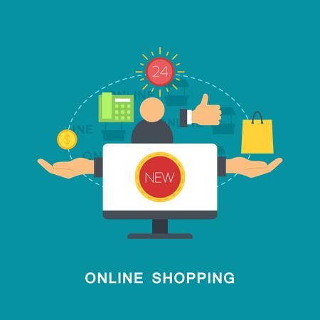 online shopping: Online shopping vector image Illustration